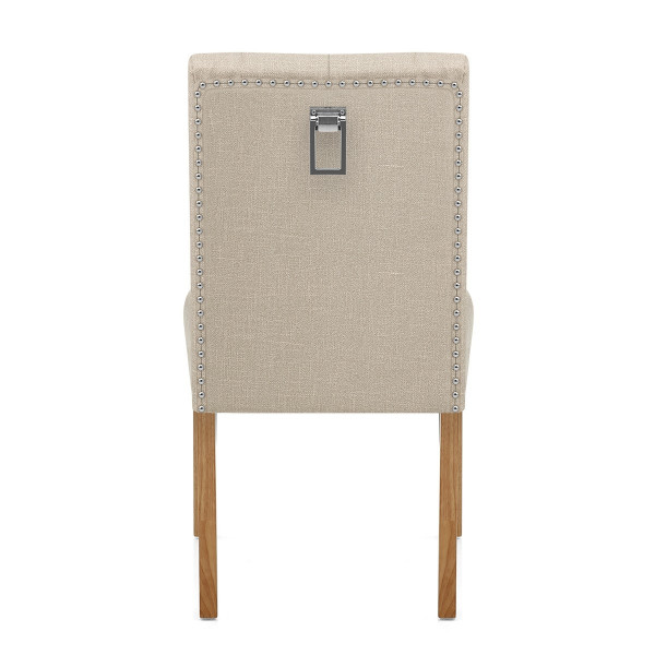 Silla Tela Roble - Barrington Crema