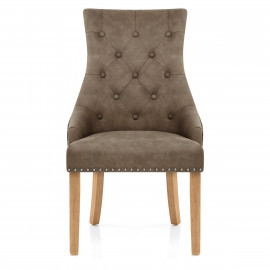 Silla Polipiel Antiguo Roble - Ascot