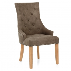 Silla Polipiel Roble - Ascot