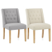 Silla Tela Roble - Chatsworth Crema